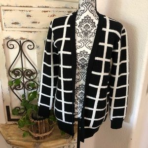 Gypsy warrior black and white cardigan